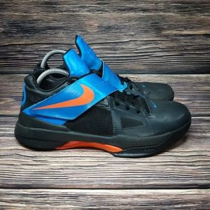 Nike Zoom KD 4 Lightening Blue Away Kevin Durant